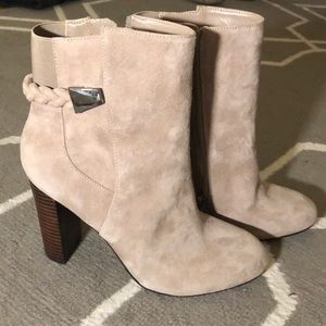 Saks fifth avenue suade bootie.